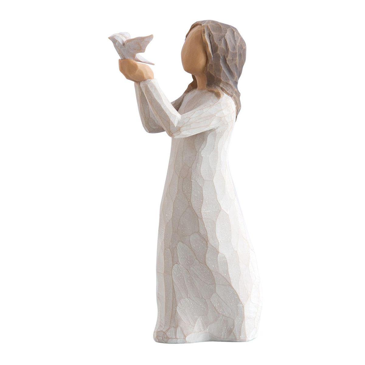 Фигурка Willow Tree Воспарить, 10 см27173Эти прекрасные статуэтки созданы канадским скульптором Сьюзан Лорди. Каждая фигурка – это настоящее произведение искусства, образная скульптура в миниатюре, изображающая эмоции и чувства, которые помогают нам чувствовать себя ближе к другим, верить в мечту, выражать любовь. Каждая фигурка помещена в красивую упаковку. Купить такой оригинальный подарок, значит не только украсить интерьер помещения или жилой комнаты, но выразить свое глубокое отношение к любимому человеку. Этот прекрасный сувенир будет лучшим подарком на день ангела, именины, день рождения, юбилей. Материал: Искусственный камень (49% карбонат кальция мелкозернистой разновидности, 51% искусственный камень)