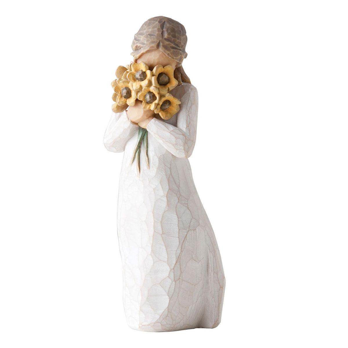 Фигурка Willow Tree Теплые объятия, 14 см27250Эти прекрасные статуэтки созданы канадским скульптором Сьюзан Лорди. Каждая фигурка – это настоящее произведение искусства, образная скульптура в миниатюре, изображающая эмоции и чувства, которые помогают нам чувствовать себя ближе к другим, верить в мечту, выражать любовь. Каждая фигурка помещена в красивую упаковку. Купить такой оригинальный подарок, значит не только украсить интерьер помещения или жилой комнаты, но выразить свое глубокое отношение к любимому человеку. Этот прекрасный сувенир будет лучшим подарком на день ангела, именины, день рождения, юбилей. Материал: Искусственный камень (49% карбонат кальция мелкозернистой разновидности, 51% искусственный камень)