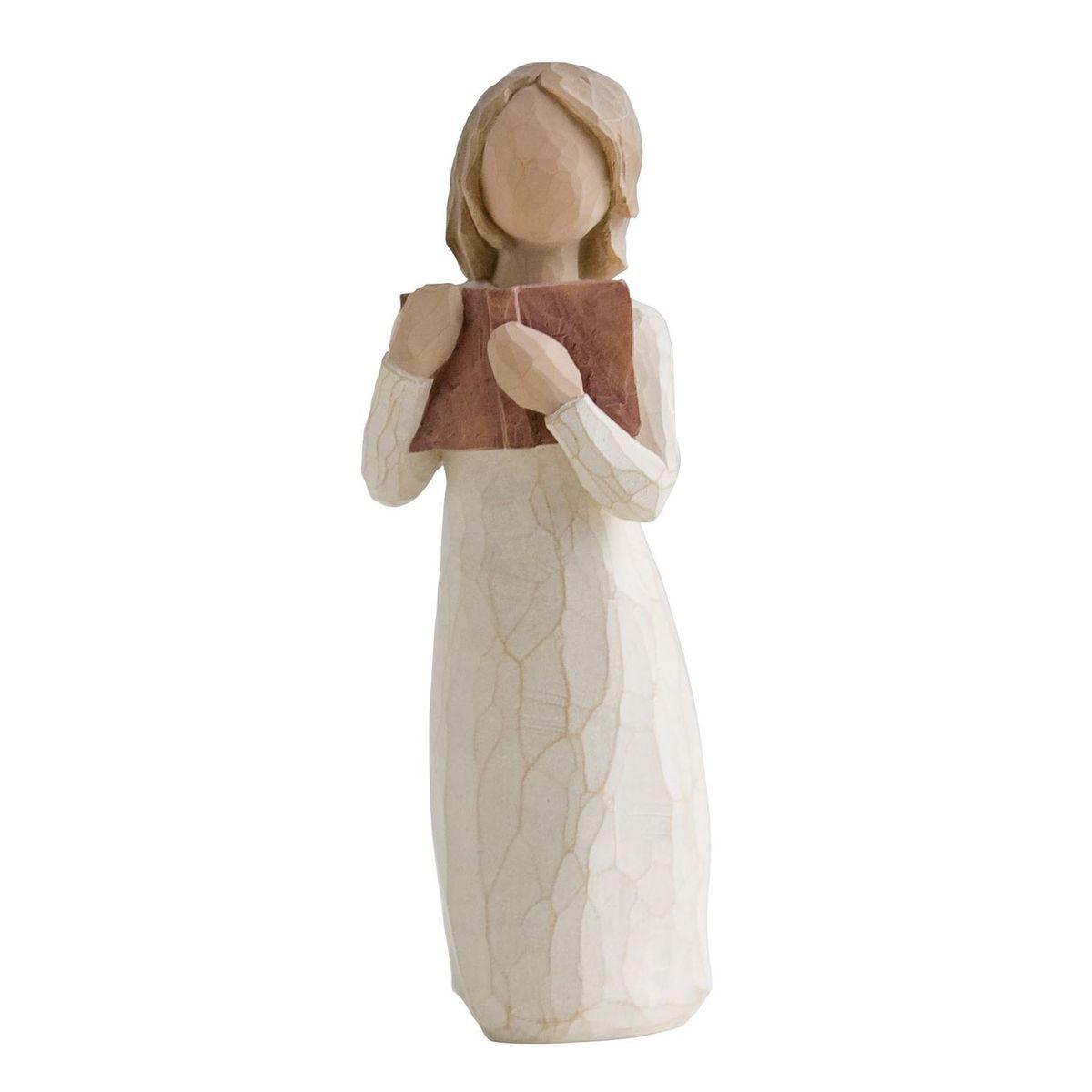 Фигурка Willow Tree Любовь к учебе, 7 см26165Эти прекрасные статуэтки созданы канадским скульптором Сьюзан Лорди. Каждая фигурка – это настоящее произведение искусства, образная скульптура в миниатюре, изображающая эмоции и чувства, которые помогают нам чувствовать себя ближе к другим, верить в мечту, выражать любовь. Каждая фигурка помещена в красивую упаковку. Купить такой оригинальный подарок, значит не только украсить интерьер помещения или жилой комнаты, но выразить свое глубокое отношение к любимому человеку. Этот прекрасный сувенир будет лучшим подарком на день ангела, именины, день рождения, юбилей. Материал: Искусственный камень (49% карбонат кальция мелкозернистой разновидности, 51% искусственный камень)