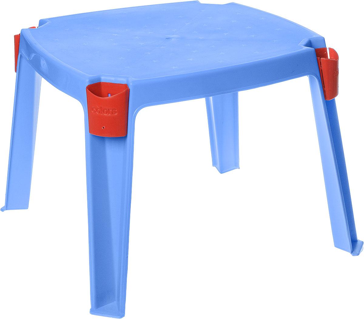 PalPlay Стол детский с карманами цвет голубой 53 см х 53 см 364_голубой
