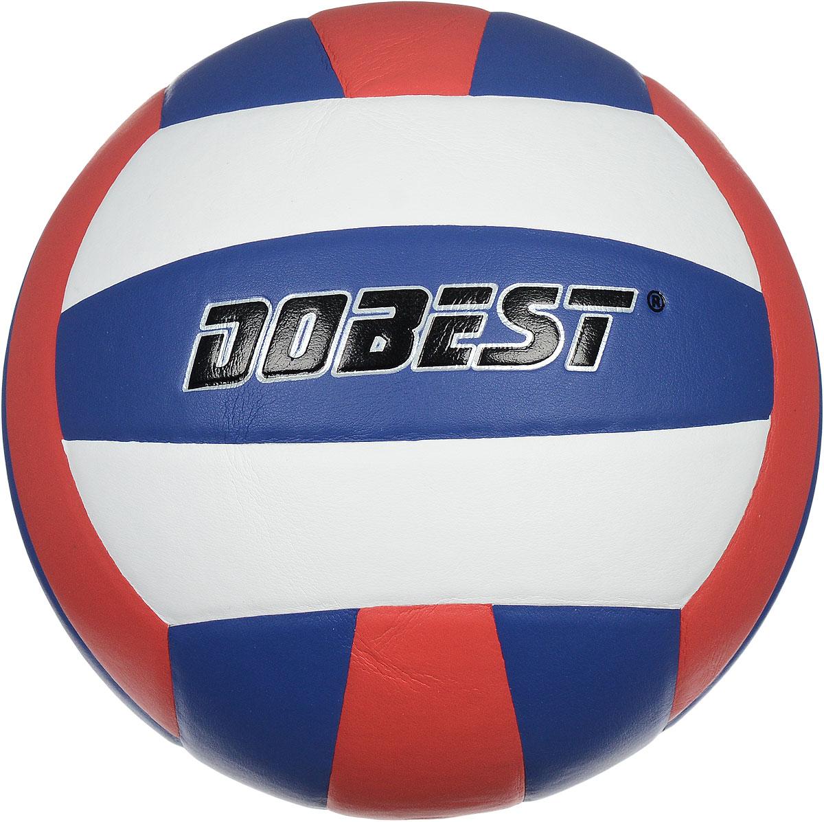 Мяч волейбольный Dobest, цвет: белый, синий, красный. Размер 5SU500Волейбольный мяч Dobest подойдет для любительской игры на улице и в зале. Изделие выполнено из прочной синтетической кожи, камера - резина. Панели клееные. Количество панелей: 18. Количество слоев: 4. Вес: 260-280 г. УВАЖЕМЫЕ КЛИЕНТЫ! Обращаем ваше внимание на тот факт, что мяч поставляется в сдутом виде. Насос не входит в комплект.