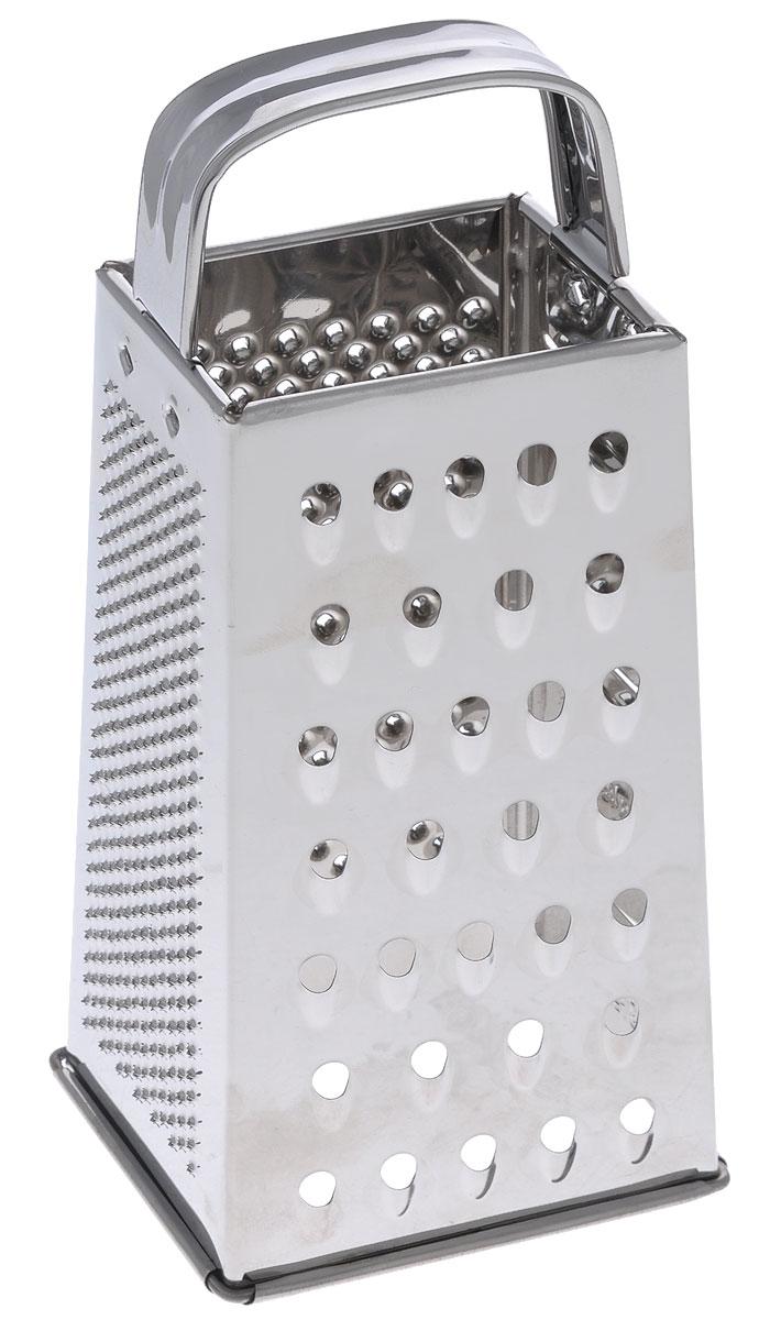 Терка четырехгранная Mayer & Boch, высота 20,8 смCM000001328Четырехгранная терка Mayer & Boch, выполненная из высококачественной нержавеющей стали с зеркальной полировкой, станет незаменимым атрибутом приготовления пищи. На одном изделие представлены четыре вида терок - крупная, мелкая, фигурная и нарезка ломтиками. Современный стильный дизайн позволит терке занять достойное место на вашей кухне.