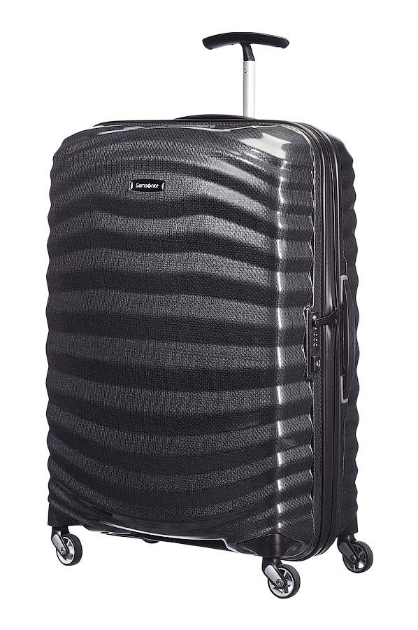 Чемодан Samsonite Lite-Shock Spinner 98V-09002, цвет: черный, 73 л98V-09002Средний чемодан Samsonite 98V*002 Lite-Shock – это совокупность роскошного дизайна, невероятной легкости и высочайшего качества. Благодаря своим размерам, такой дорожный чемодан станет идеальным решением для недельного путешествия. Элитный чемодан Samsonite 98V*002 Lite-Shock выполнен из легендарного пластика Curv, который прославился по всему миру своей прочностью и минимальным весом. Насыщенные модные расцветки и привлекательная рельефная поверхность в виде морских волн делают чемодан неповторимым и запоминающимся! Дорожный чемодан среднего размера Samsonite 98V*002 Lite-Shock идеален для любого путешествия. Четыре маневренных колеса и надежная телескопическая ручка сделают транспортировку стильного чемодана приятной и комфортной. Чемодан премиум-класса Samsonite 98V*002 Lite-Shock сделает вас успешным и состоятельным человеком в глазах окружающих. Купив пластиковый чемодан для ручной клади, вы по достоинству оцените непревзойденное бельгийское качество и невероятное...