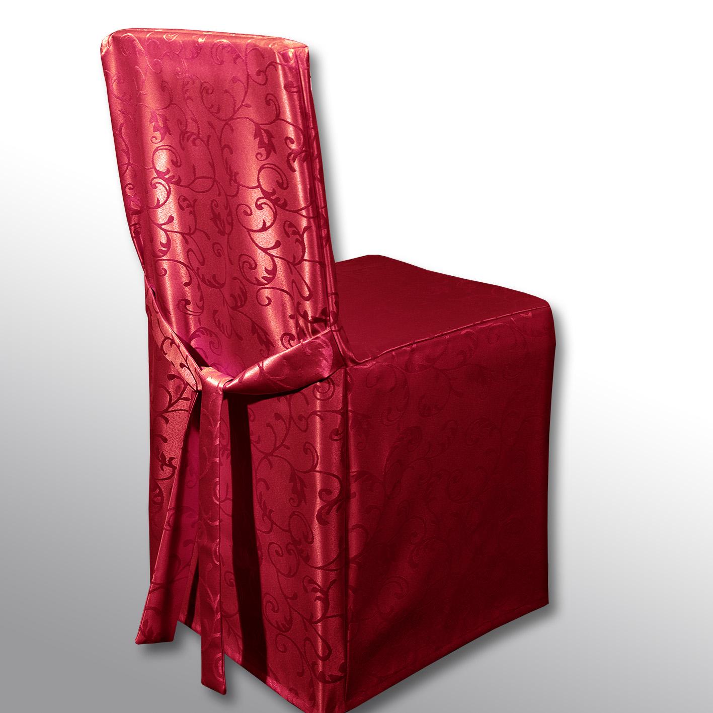 Чехол на стул Schaefer, цвет: красный, 45 х 45 х 45 см4121/Fb.04Чехол на стул Schaefer выполнен из полиэстера с красивым узором. На спинке чехол завязывается на завязки. Предназначен для классического стула со спинкой. Такой чехол изысканно дополнит интерьер вашего дома.