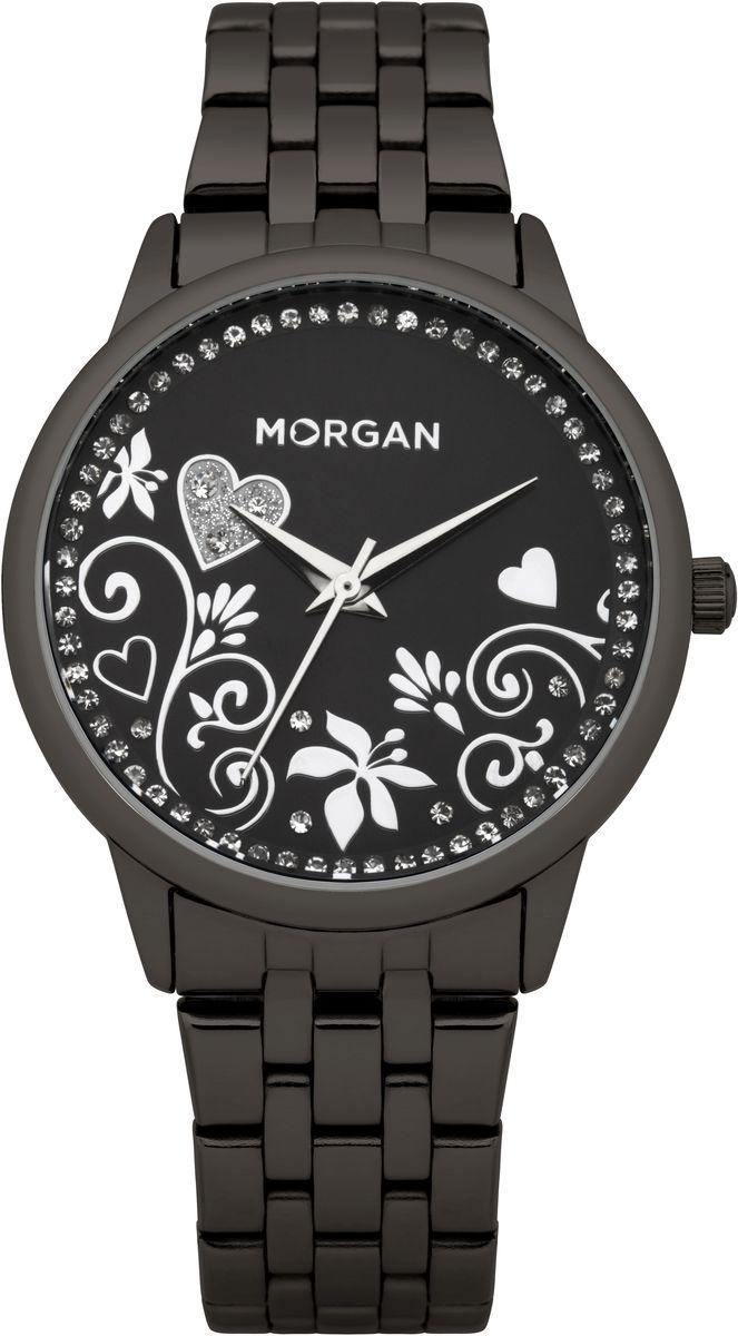 Часы наручные женские Morgan, цвет: черный. M1130BMBRM1130BMBRОригинальные женские часы Morgan выполнены из нержавеющей стали с IP-покрытием и минерального стекла. Циферблат часов дополнен чешскими кристаллами и символикой бренда. Корпус часов оснащен кварцевым механизмом, имеет степень влагозащиты равную 3 atm, а также дополнен устойчивым к царапинам минеральным стеклом. Браслет часов оснащен замком-клипсой, который позволит с легкостью снимать и надевать изделие. Часы поставляются в фирменной упаковке. Часы Morgan подчеркнут изящность женской руки и отменное чувство стиля у их обладательницы.