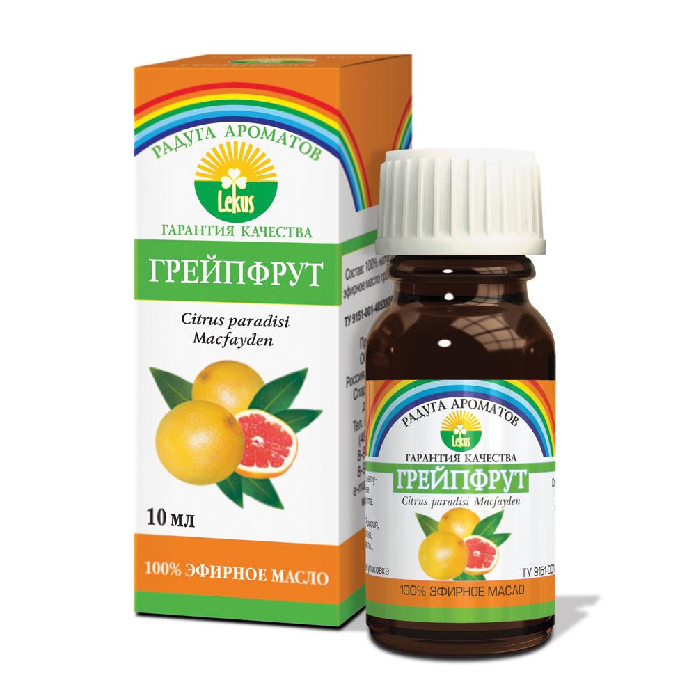 Радуга ароматов Грейпфрут масло эфирное, 10 мл898Бодрящий аромат грейпфрута оказывает стимулирующее и легкое тонизирующее действие, придает бодрость, помогает преодолеть стресс. Повышает сопротивляемость организма инфекционным и простудным заболеваниям. Оказывает болеутоляющее действие и облегчает боли при мигренях. Осветляет жирную кожу, сужает поры, препятствует образованию камедонов. Великолепно питает и укрепляет волосы, восстанавливает естественную секрецию жирных волос. Масло грейпфрута улучшает обмен веществ в организме, уменьшает отеки, снимает мышечные спазмы, эффективное средство при целлюлите и тучности. Дезинфицирует и оздоравливает воздух в жилых помещениях. Формы применения: Массаж: 4-6 капель на 15 г основы, ванны: 4-6 капель, аромалампы: 2-3 капли.
