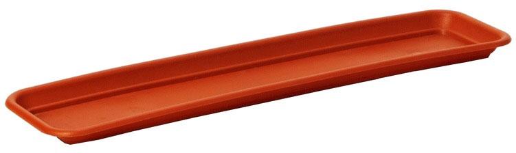 Поддон для балконного ящика Lamela, цвет: терракотовый, 77,5 см19201Поддон для балконного ящика Lamela выполнен из высококачественного пластика. Изделие предназначено для стока воды.