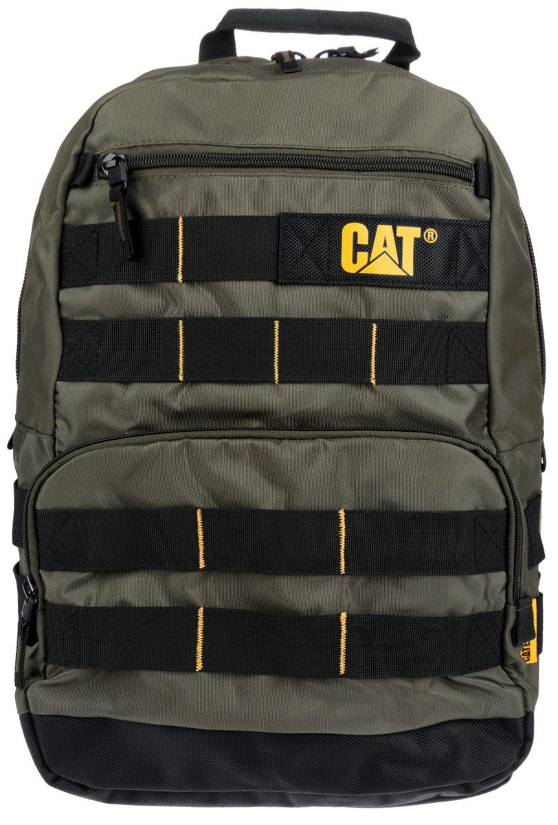 Рюкзак Caterpillar Trabajo, цвет: темно-зеленый, черный, 22 л83066-164Стильный рюкзак Caterpillar Trabajo изготовлен из полиэстера. Рюкзак имеет одно основное отделение, которое закрывается на застежку-молнию с двумя бегунками. Внутри имеется сетчатый карман на застежке-молнии и накладной открытый карман. Снаружи, на передней стенке находится прорезной карман на застежке-молнии и накладной открытый карман на застежке-молнии. Рюкзак оснащен удобными широкими лямками с мягкой подкладкой, которые регулируются по длине, и текстильной ручкой. Стильный рюкзак Caterpillar Trabajo станет незаменим для активных молодых людей.