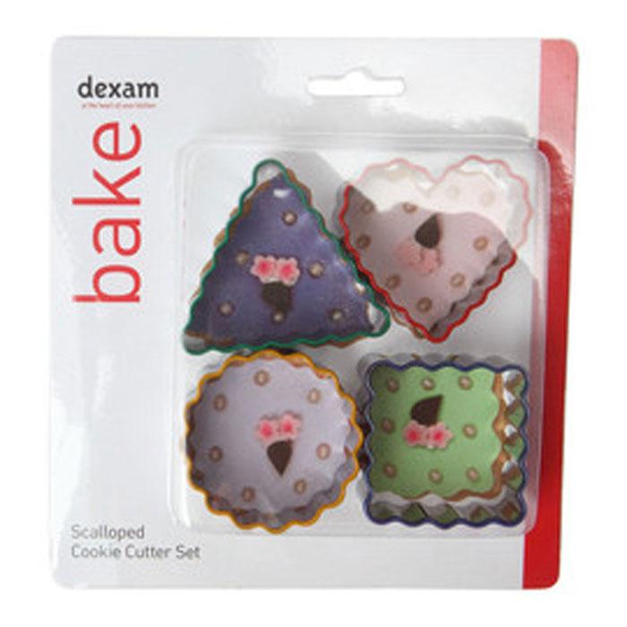 Набор форм для печенья Dexam Фигуры, 4 шт17848708Набор Dexam Фигуры состоит из 4 форм для вырезания печенья, выполненных из высококачественной нержавеющей стали, в виде сердца, треугольника, круга и квадрата. С такими формами-резаками можно сделать множество интересных фигурок. Изделия используются для создания печенья, сладких блюд, бутербродов, как трафарет для украшений из бумаги и других материалов. Средний размер формы: 5 см х 5 см. Высота форм: 2 см.