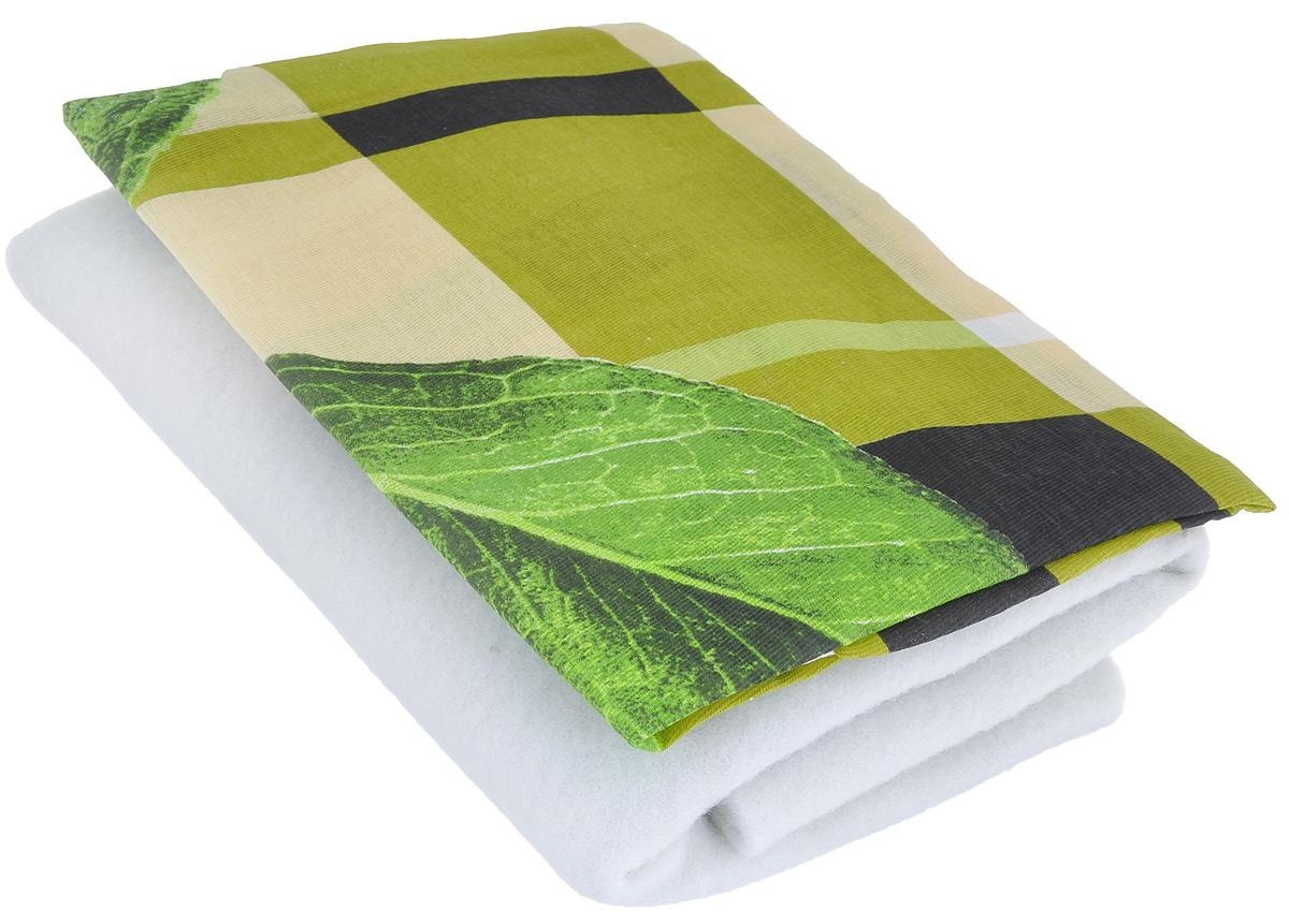 Чехол для гладильной доски Detalle, цвет: зеленый, желтый, салатовый, 125 см х 47 смЕ1301_зеленый, желтый, салатовыйЧехол для гладильной доски Detalle, выполненный из хлопка с подкладкой из мягкого войлокообразного полотна (ПЭФ), предназначен для защиты или замены изношенного покрытия гладильной доски. Чехол снабжен стягивающим шнуром, при помощи которого вы легко отрегулируете оптимальное натяжение чехла и зафиксируете его на рабочей поверхности гладильной доски. Из войлокообразного полотна вы можете вырезать подкладку любого размера, подходящую именно для вашей доски. Этот качественный чехол обеспечит вам легкое глажение. Он предотвратит образование блеска и отпечатков металлической сетки гладильной доски на одежде. Войлокообразное полотно практично и долговечно в использовании. Размер чехла: 125 см x 47 см. Максимальный размер доски: 120 см х 42 см. Размер войлочного полотна: 130 см х 52 см.
