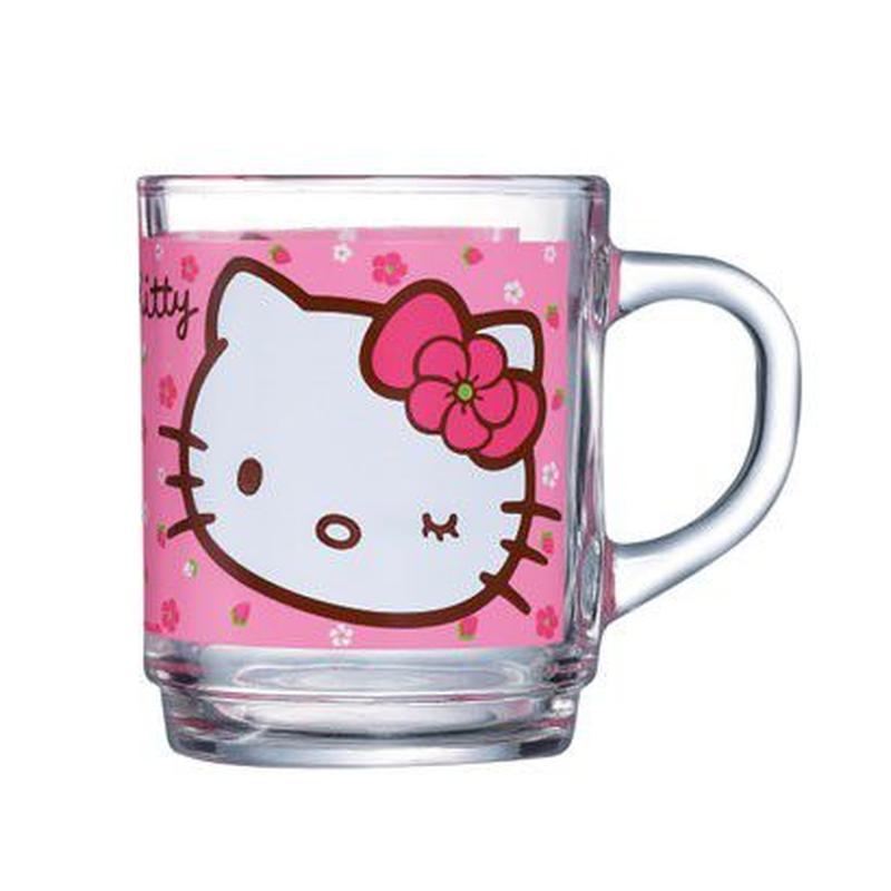 Кружка Luminarc Hello Kitty Sweet Pink, 250 млH5480Кружка Hello Kitty Sweet Pink надежной французской марки Luminarc понравится всем маленьким любительницам котенка Китти. Прозрачная кружка современной формы украшена ярким принтом с изображением милой Китти на нежно-розовом фоне. Она выполнена из ударопрочного стекла с антибактериальным покрытием, что важно для детской посуды. Кружка подходит для использования в микроволновой печи и посудомоечной машине. Объем кружки: 250 мл. Высота кружки: 9 см. Диаметр кружки: 7 см.