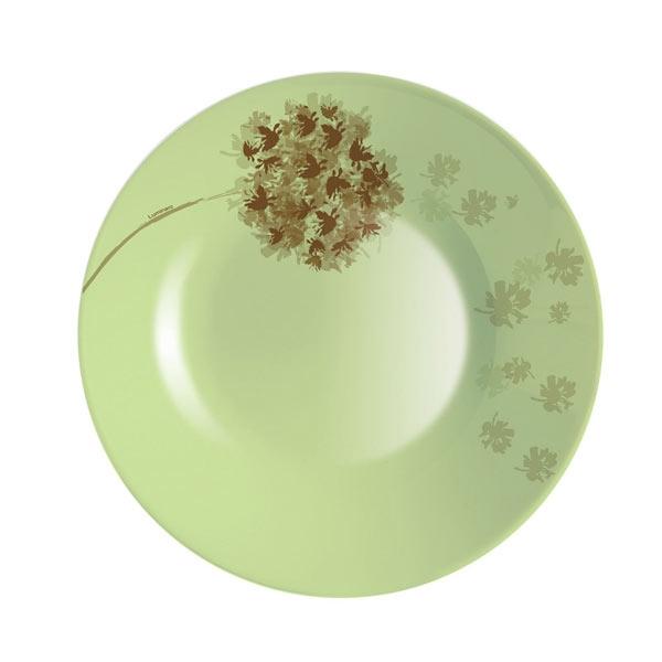 Тарелка глубокая Luminarc Stella, диаметр 21,5 смVT-1520(SR)Глубокая тарелка Stella известной французской марки Luminarc придется по вкусу любой хозяйке. Нежный оливковый цвет и приятный рисунок добавят тепла и уюта ежедневному обеду или ужину. Тарелка изготовлена из качественного ударопрочного стекла, которое долговечно, не впитывает запахи и обладает антибактериальными свойствами. Она подходит для использования в СВЧ-печах и посудомоечной машине.