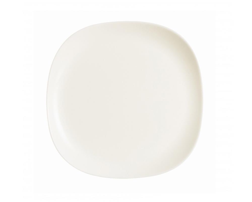 Тарелка десертная Luminarc Yalta, цвет: белый, 20 х 20 смJ2423Десертная тарелка марки Luminarc, выполненная в необычной форме, подчеркнет лучшие стороны любого сладкого блюда. Стильная тарелка придется по душе любителям однотонной посуды в стиле модерн. Изготовленная из качественного ударопрочного стекла, она надолго сохранит первоначальный внешний вид. Десертную тарелку можно мыть в посудомоечной машине и использовать в СВЧ-печи.