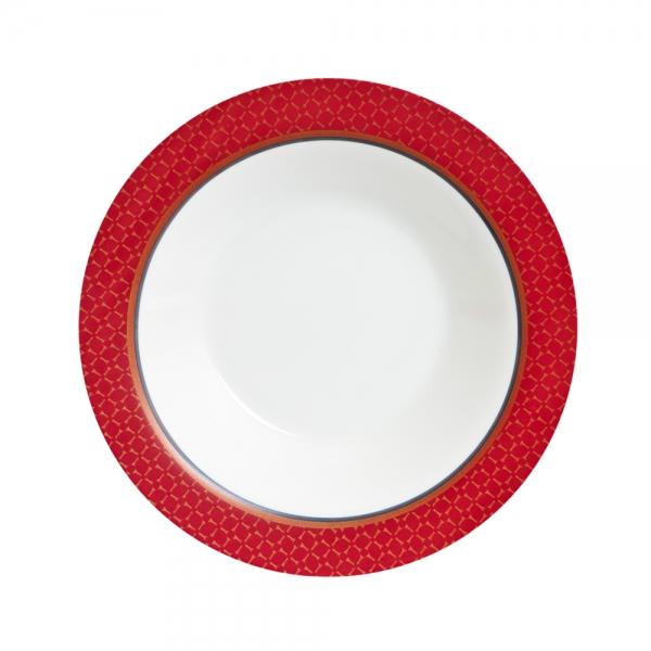 Тарелка глубокая Luminarc Alto Rubis, диаметр 22 смJ3741Глубокая тарелка из серии Luminarc Alto Rubis, диаметром 22 см, выполнена из ударопрочной стеклокерамики Zenix, устойчивой к трению, механическим повреждениям и резким перепадам температуры. Служит для подачи первых блюд и вмещает 450 мл жидкости (до самого края). Комфортно в тарелку помещаются 3 половника супа, при этом она не будет заполнена до самого края. Благодаря прекрасному эстетическому виду и высочайшему качеству, тарелка удовлетворит самые высокие предпочтения современных домохозяек и гурманов. Пригодна для использования в посудомоечной машине и СВЧ.