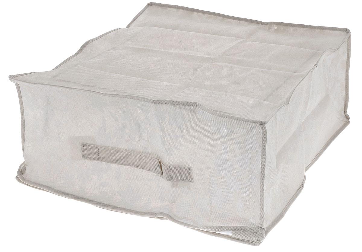 Чехол для хранения одеял Voila Спринг, цвет: бежевый, 45 см х 45 см х 20 смCOVLCATSP5_бежевыйСкладывающийся чехол Voila Спринг из дышащего нетканого волокна, предназначен для хранения, транспортировки и переноски больших двуспальных пуховых одеял. Имеет прозрачное окно и замок по периметру чехла, а также ручку для переноски. Материал можно протирать в случае загрязнения влажной салфеткой или тряпкой. Надежно защищает от пыли, моли, солнечных лучей и загрязнения. Нетканый материал чехла пропускает воздух, что позволяет изделиям дышать. Это особенно необходимо для изделий из натуральных материалов. Благодаря такому чехлу, вещи не впитывают посторонние запахи. Застегивается на молнию.