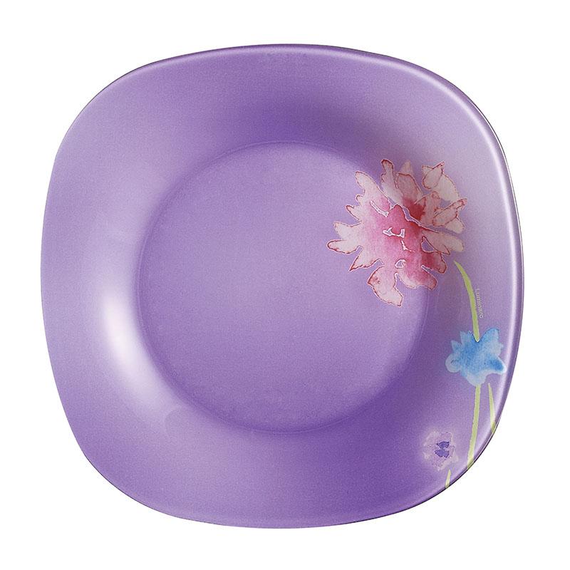 Тарелка десертная Luminarc Angel Purple, 18 см х 18 смJ2105Десертная тарелка Luminarc Angel Purple, декорированная изображением цветка, изготовлена из ударопрочного стекла, которое в 2-3 раза прочнее, чем стекло той же толщины других производителей. Изделие устойчиво к повреждениям и истиранию, в процессе эксплуатации не впитывает запахи и сохраняет первоначальные краски. Посуда Luminarc обладает не только высокими техническими характеристиками, но и красивым эстетичным дизайном. Luminarc - это современная, красивая, практичная столовая посуда. Можно использовать в СВЧ и посудомоечной машине.