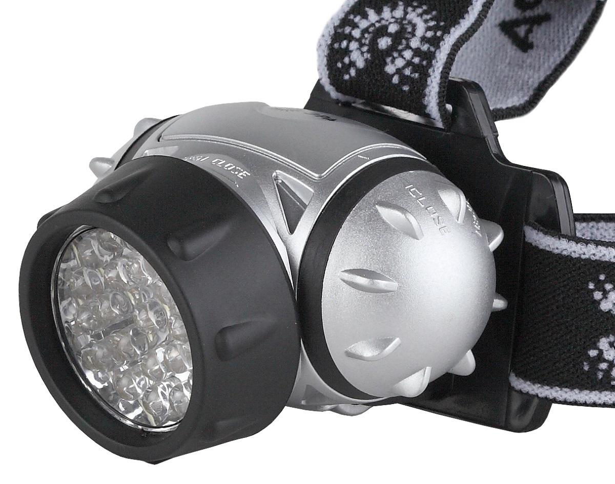 Фонарь налобный ЭРА G23, цвет: черный, серебряныйG23Светодиодный налобный фонарь: 23 белых светодиода 4 режима работы 3xAAA (в комплект не входят).105 лм