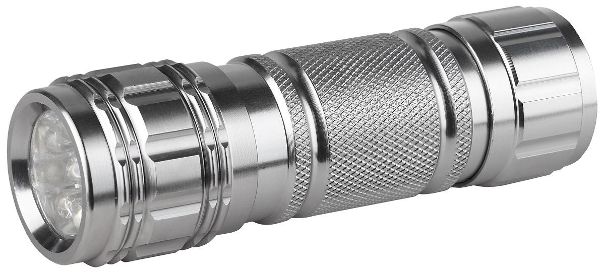Фонарь ручной ЭРА SD9, цвет: металлSD9Светодиодный алюминиевый фонарь: 9 белых светодиодов ремешок для запястье 3xAAA (в комплект не входят). 34 лм
