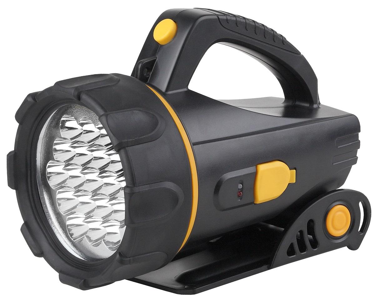Фонарь ручной ЭРА FA18E, цвет: черныйFA18Eфонарь-прожектор имеет 19 сверх ярких светодиодов, складывающаяся, регулируемая по высоте подставка снизу, а так же ручка сверху, что позволяет использовать фонарь и как стационарный, и переносной. Источники питания: аккумулятор. Питание: Аккумулятор 4V 2Ah. Аккумулятор: 4 В. Емкость аккумулятора: 2000 Ач. Тип лампы: светодиодная.
