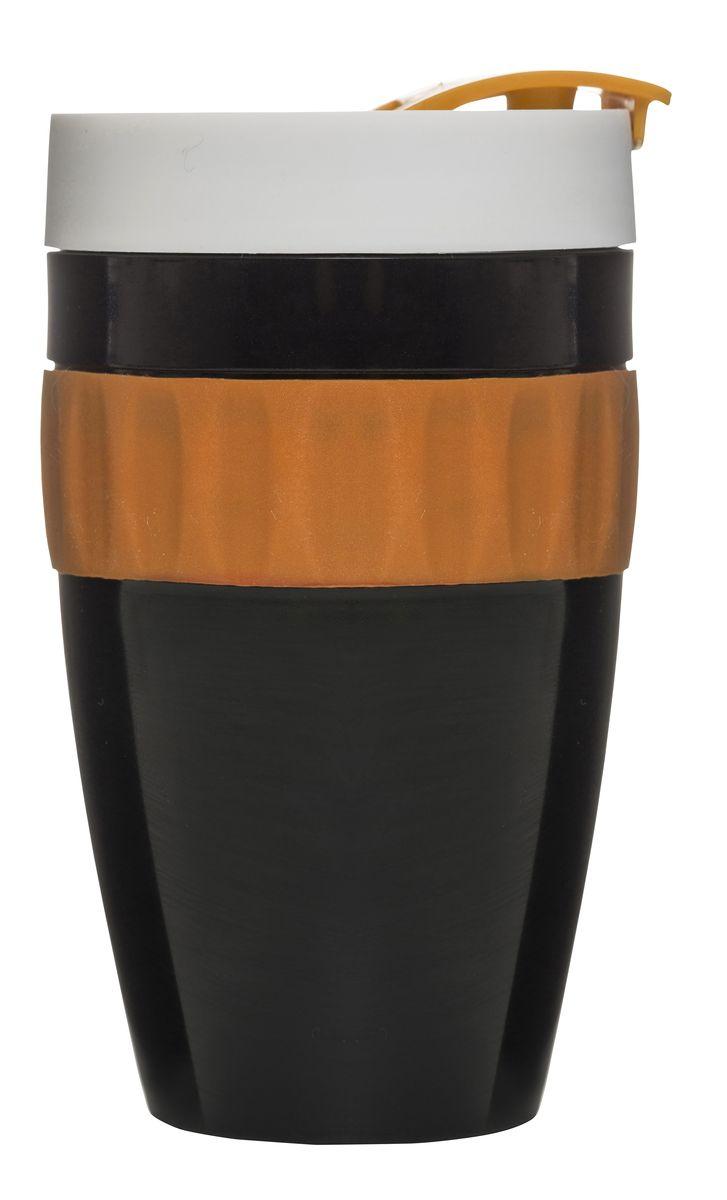 Термокружка черный/оранжевый/белый. 50171545017154Стильная, яркая, качественная термокружка от Сагаформ – это мечта тех, кто постоянно находится в пути. Она предназначена для любых напитков, сохраняя тепло чая или прохладу сока. Благодаря высокой герметичности вы можете брать ее с собой без тени сомнений. Напиток не будет пролит, а сумка, одежда или салон авто останутся чистыми. Кружка выполнена в сочных тонах. Черный, оранжевый, белый – эти цвета приковывают взгляды и вносят разнообразие в серость дней. Вы можете сделать приятный подарок родным или друзьям, вызвав бурю восторга!