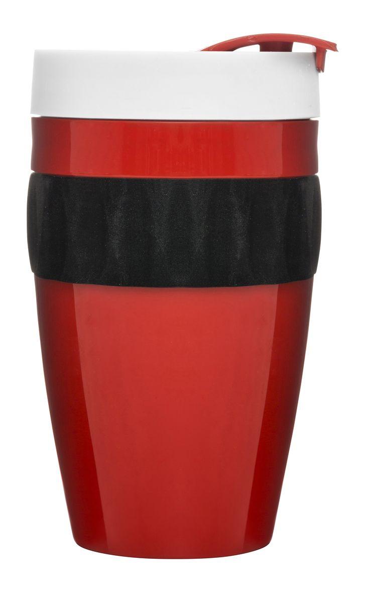 Термокружка красный/черный/белый. 50173155017315Термокружка коллекции Cafe – это приятный дизайн и отличное качество. Надежная конструкция в переплетении с высокой герметичностью позволяют сохранить температуру напитка и защищают от проливания. Вы сможете насладиться горячим чаем в пути, не теряя время на поиски кафе. При создании кружки использован высококачественный пластик. Но внимание приковывают не только превосходные материалы – яркая расцветка тоже играет не последнюю роль. Сочетание белого, красного и черного оттенков подчеркнет индивидуальность натуры и привнесет в жизнь позитив!