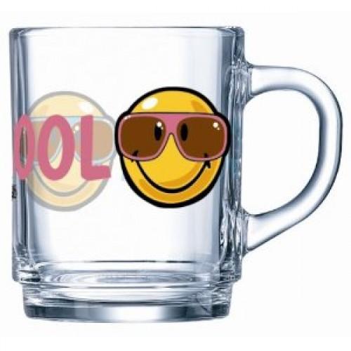 Кружка Luminarc Smiley World First, 250 мл115510Кружка Luminarc Smiley World First изготовлена из упрочненного стекла. Такая кружка прекрасно подойдет для горячих и холодных напитков. Она дополнит коллекцию вашей кухонной посуды и будет служить долгие годы. Объем кружки: 250 мл. Диаметр кружки (по верхнему краю): 7 см. Высота кружки: 9 см.