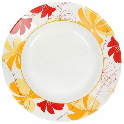 Тарелка Luminarc Romane Yellow, диаметр 22 смJ2719Тарелка Luminarc Romane Yellow выполнена из ударопрочного стекла и украшена изображением цветов. Она прекрасно впишется в интерьер вашей кухни и станет достойным дополнением к кухонному инвентарю. Тарелка Luminarc Romane Yellow подчеркнет прекрасный вкус хозяйки и станет отличным подарком. Диаметр тарелки (по верхнему краю): 22 см.