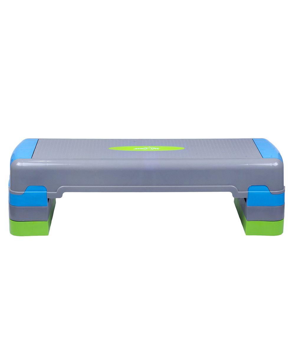 Степ-платформа Starfit SP-203, 3-уровневая, 90,5 х 32,5 х 20 см21-0471 PСтеп-платформа SP-203 предназначена для занятий аэробикой в фитнес-клубах, спортивных залах и для домашнего использования. С помощью тренажера можно оптимизировать нагрузку на мышцы ног и ягодиц, сделать мышцы тела подтянутыми и стройными. За счет высокоинтенсивной тренировки на степе, можно наладить работу сердечно-сосудистой системы. Степ-платформа один из самых популярных аксессуаров в фитнесе. Тренажер используют в функциональном тренинге, бодибилдинге, групповых программах. Количество уровней: 3. Высота платформы с уровнями: 20 см. Высота первого уровня: 10 см.