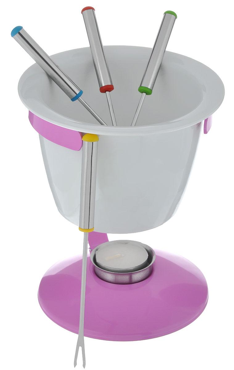 """Набор для фондю """"Mayer & Boch"""", цвет: розовый, белый, 8 предметов 21379"""