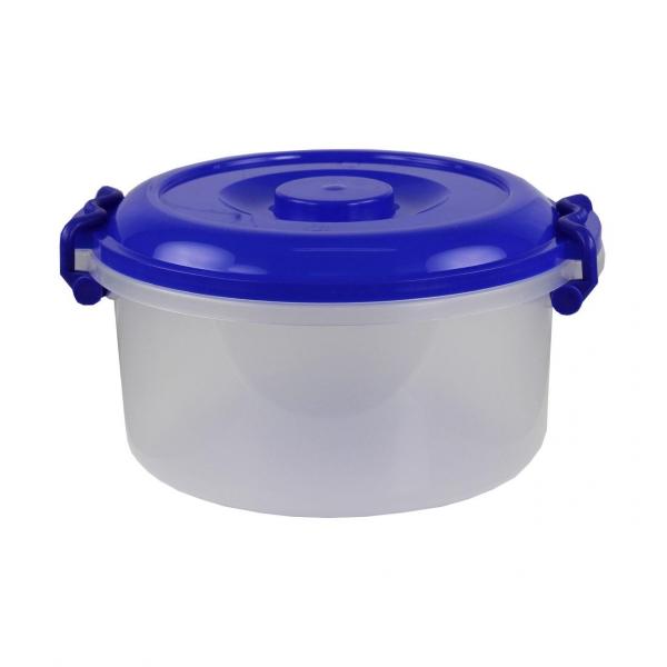Контейнер Альтернатива, цвет: прозрачный, синий, 7 лМ147_синийКонтейнер Альтернатива выполнен из прочного пластика, предназначен для хранения различных мелких вещей. Прозрачные стенки позволяют видеть содержимое. Контейнер плотно закрывается крышкой с двумя защелками. В таком контейнере ваши вещи будут защищены от пыли, грязи и влаги. Объем: 7 л.