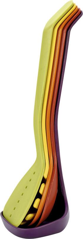 Набор кухонных принадлежностей Calve, 5 предметов. CL-1369CL-1369Набор кухонных принадлежностей Calve состоит из половника, лопатки с прорезями, сервировочной ложки, ложки с прорезями и ложки для спагетти. Приборы выполнены из нейлона. В наборе содержатся все необходимые на кухне принадлежности, которые могут вам в приготовлении пищи. Стильный дизайн сделает такой набор отличным украшением кухни. Можно мыть в посудомоечной машине. Общая длина половника: 31 см. Размер рабочей поверхности половника: 10,5 х 9 х 3,5 см. Общая длина лопатки с прорезями: 32 см. Размер рабочей поверхности лопатки с прорезями: 8 х 10,5 см. Общая длина сервировочной ложки: 31 см. Размер рабочей поверхности сервировочной ложки: 9,5 х 8 х 3 см. Общая длина ложки с прорезями: 31,5 см. Размер рабочей поверхности ложки с прорезями: 8 х 9 х 3 см. Общая длина ложки для спагетти: 32 см. Размер рабочей поверхности ложки для спагетти: 8,5 х 3,5 х 8 см.