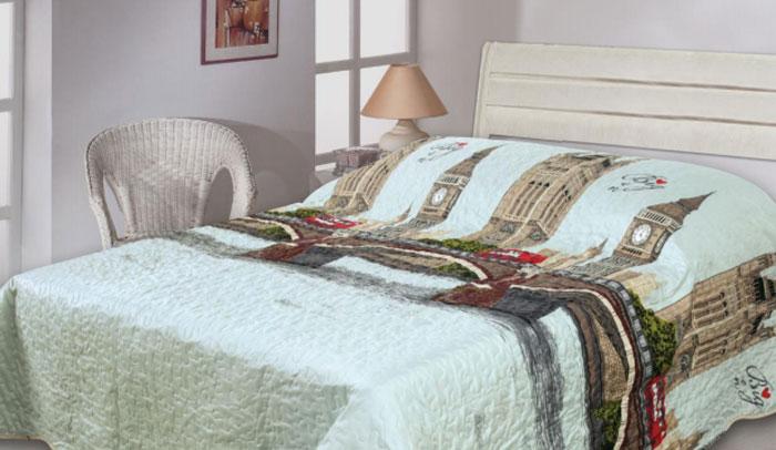 Покрывало Cool Bridge, цвет: серый, бежевый, коричневый, 210 см х 235 см17102019Изящное стеганое покрывало Cool Bridge гармонично впишется в интерьер вашего дома и создаст атмосферу уюта и комфорта. Покрывало выполнено из высококачественного полиэстера и оформлено оригинальным рисунком.В комплекте - удобный текстильный чехол с затягивающимися шнурками для удобной переноски.Такое покрывало согреет в прохладную погоду и будет превосходно дополнять интерьер вашей спальни. Высочайшее качество материала гарантирует безопасность не только взрослых, но и самых маленьких членов семьи.Покрывало может подчеркнуть любой стиль интерьера, задать ему нужный тон - от игривого до ностальгического. Покрывало Cool Bridge станет отличным подарком, который будет всегда актуален, особенно для ваших родных и близких, ведь вы дарите им частичку своего тепла!Размер: 210 см х 235 см.