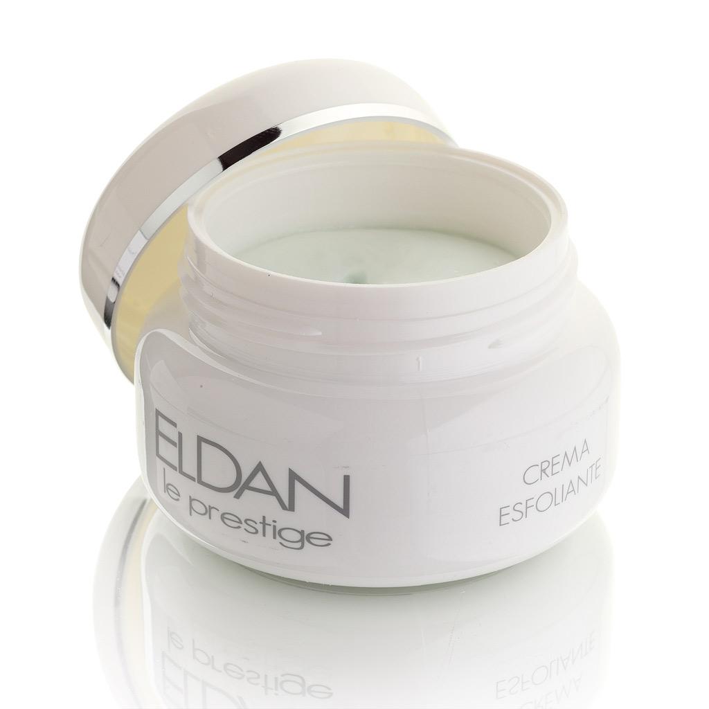 ELDAN cosmetics Керм-скраб для лица Le Prestige, 100 млFS-00103крем-эксфолиант мягко отшелушивает с помощью округлых полиэтиленовых гранул, не повреждая и не травмируя кожу. Способствует выравниванию рельефа кожи и улучшает проникновение последующих средств ухода. Усиливает кровообращение, снимает шелушение и покраснение, обладает хорошим заживляющим свойством.