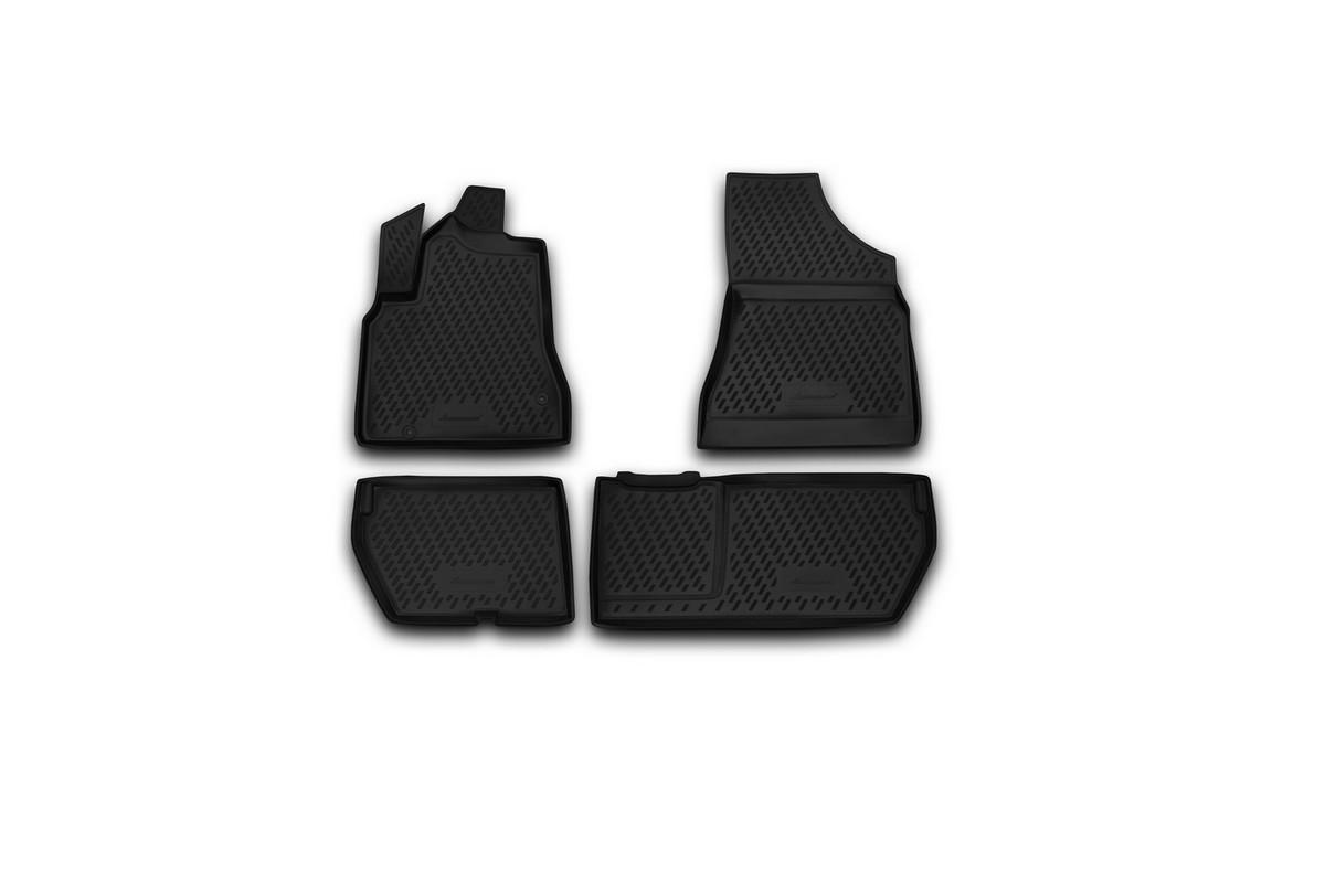Набор автомобильных ковриков Novline-Autofamily для Citroen Berlingo B9 2008-, в салон, 4 шт комплект ковриков в салон автомобиля novline autofamily citroen berlingo 2008 цвет черный