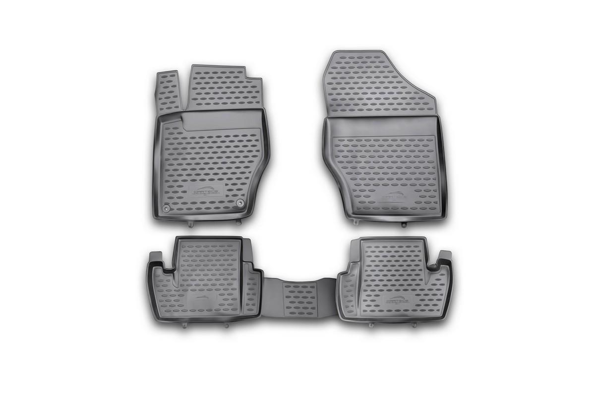 Набор автомобильных ковриков Novline-Autofamily для Citroen C4 2011-, в салон, 4 штCARCRN10035hНабор автомобильных ковриков Novline-Autofamily, изготовленный из полиуретана, состоит из 4 ковриков, которые учитывают все особенности каждой модели автомобиля и полностью повторяют контуры пола. Полиуретановые автомобильные коврики для салона произведены из высококачественного материала, который держит форму, прочный и не пачкает обувь. Коврики в салон не только улучшат внешний вид салона вашего автомобиля, но и надежно уберегут его от пыли, грязи и сырости, а значит, защитят кузов от коррозии. Полиуретановые коврики для автомобиля гладкие, приятные и не пропускают влагу. Ковры для автомобилей надежно крепятся на полу и не скользят, что очень важно во время движения. Чистятся коврики очень просто: как при помощи автомобильного пылесоса, так и различными моющими средствами. Набор подходит для Citroen C4 с 2011 года выпуска.