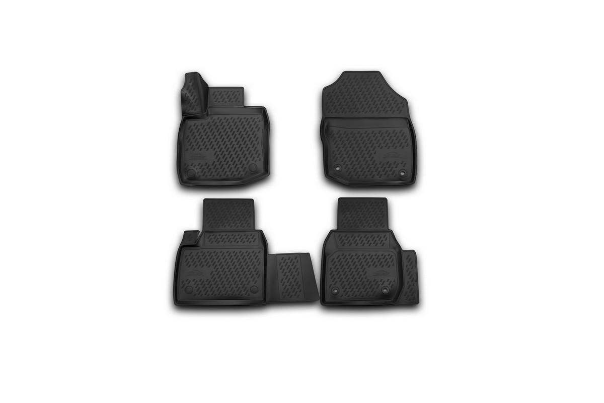 Набор автомобильных 3D-ковриков Novline-Autofamily для Honda Civic 5D, 2012->, хэтчбек, в салон, 4 шт. CARHND00009CARHND00009Набор Novline-Autofamily состоит из 4 ковриков, изготовленных из полиуретана. Основная функция ковров - защита салона автомобиля от загрязнения и влаги. Это достигается за счет высоких бортов, перемычки на тоннель заднего ряда сидений, элементов формы и текстуры, свойств материала, а также запатентованной технологией 3D-перемычки в зоне отдыха ноги водителя, что обеспечивает дополнительную защиту, сохраняя салон автомобиля в первозданном виде. Материал, из которого сделаны коврики, обладает антискользящими свойствами. Для фиксации ковров в салоне автомобиля в комплекте с ними используются специальные крепежи. Форма передней части водительского ковра, уходящая под педаль акселератора, исключает нештатное заедание педалей. Набор подходит для Honda Civic 5D хэтчбек с 2012 года выпуска.