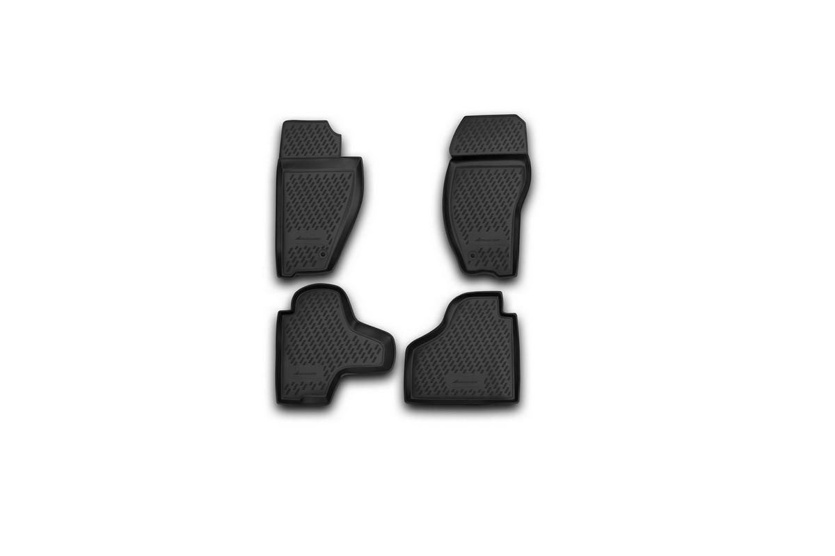 Набор автомобильных ковриков Novline-Autofamily для Jeep Cherokee 2008-, в салон, 4 штVT-1520(SR)Набор автомобильных ковриков Novline-Autofamily, изготовленный из полиуретана, состоит из 4 ковриков, которые учитывают все особенности каждой модели автомобиля и полностью повторяют контуры пола. Полиуретановые автомобильные коврики для салона произведены из высококачественного материала, который держит форму, прочный и не пачкает обувь. Коврики в салон не только улучшат внешний вид салона вашего автомобиля, но и надежно уберегут его от пыли, грязи и сырости, а значит, защитят кузов от коррозии. Полиуретановые коврики для автомобиля гладкие, приятные и не пропускают влагу. Ковры для автомобилей надежно крепятся на полу и не скользят, что очень важно во время движения. Чистятся коврики очень просто: как при помощи автомобильного пылесоса, так и различными моющими средствами. Набор подходит для Jeep Cherokee с 2008 года выпуска.