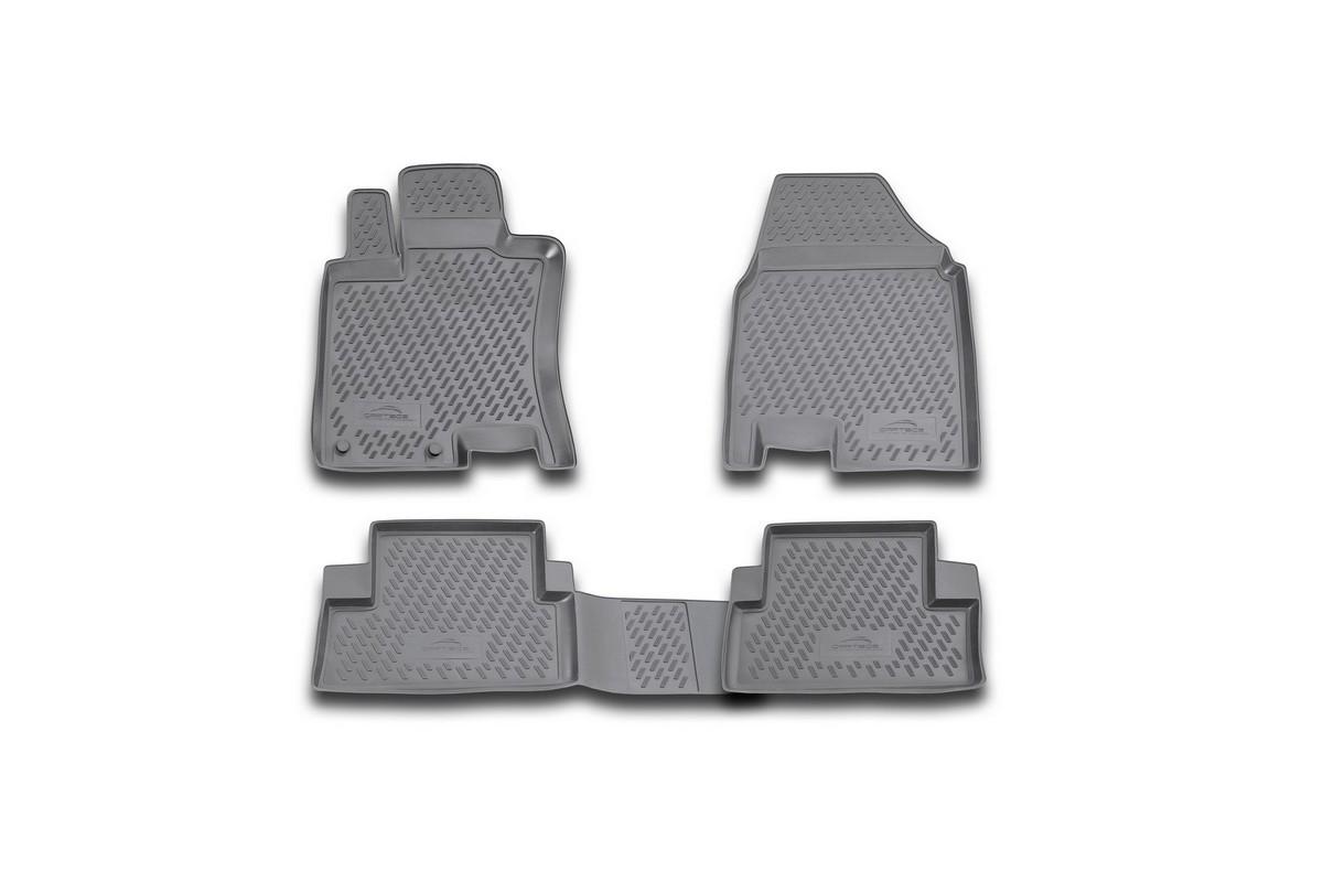 Коврики в салон автомобиля Novline-Autofamily для Nissan Qashqai, 2007 - 2014, 4 штVT-1520(SR)Коврики Novline-Autofamily улучшат внешний вид салона автомобиля и надежно уберегут его от пыли, грязи и сырости, а значит, защитят кузов от коррозии. Полиуретановые коврики гладкие, приятные и не пропускает влагу. Полиуретановые автомобильные коврики произведены из высококачественного материала, который держит форму и не пачкает обувь. Коврики надежно крепятся на полу и не скользят, что очень важно во время движения, особенно для водителя. Изделия из полиуретана надежно удерживают грязь и влагу, при этом всегда выглядят довольно опрятно. И чистятся они очень просто: как при помощи автомобильного пылесоса, так и различными моющими средствами.
