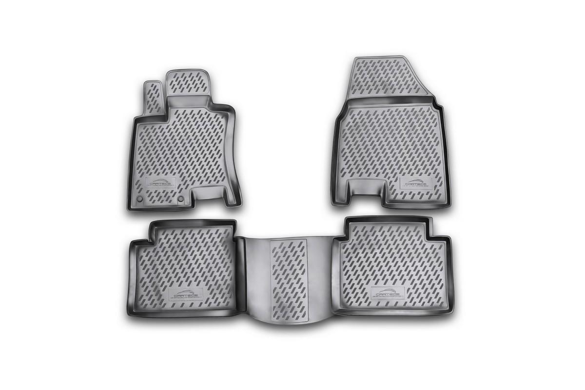 Набор автомобильных ковриков Novline-Autofamily для Nissan Qashqai+2 2008-2014, в салон, 4 шт. CARNIS00023CARNIS00023Набор автомобильных ковриков Novline-Autofamily, изготовленный из полиуретана, состоит из 4 ковриков, которые учитывают все особенности каждой модели автомобиля и полностью повторяют контуры пола. Полиуретановые автомобильные коврики для салона произведены из высококачественного материала, который держит форму, прочный и не пачкает обувь. Коврики в салон не только улучшат внешний вид салона вашего автомобиля, но и надежно уберегут его от пыли, грязи и сырости, а значит, защитят кузов от коррозии. Полиуретановые коврики для автомобиля гладкие, приятные и не пропускают влагу. Ковры для автомобилей надежно крепятся на полу и не скользят, что очень важно во время движения. Чистятся коврики очень просто: как при помощи автомобильного пылесоса, так и различными моющими средствами. Набор подходит для Nissan Qashqai+2 2008-2014 годов выпуска.