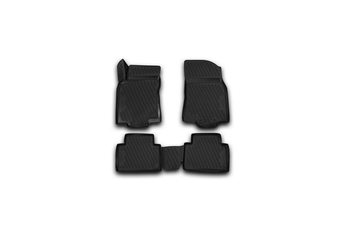 Набор автомобильных 3D-ковриков Novline-Autofamily для Nissan X-Trail, 2003-2015, в салон, 4 штCARNIS00059Набор Novline-Autofamily состоит из 4 ковриков, изготовленных из полиуретана. Основная функция ковров - защита салона автомобиля от загрязнения и влаги. Это достигается за счет высоких бортов, перемычки на тоннель заднего ряда сидений, элементов формы и текстуры, свойств материала, а также запатентованной технологией 3D-перемычки в зоне отдыха ноги водителя, что обеспечивает дополнительную защиту, сохраняя салон автомобиля в первозданном виде. Материал, из которого сделаны коврики, обладает антискользящими свойствами. Для фиксации ковров в салоне автомобиля в комплекте с ними используются специальные крепежи. Форма передней части водительского ковра, уходящая под педаль акселератора, исключает нештатное заедание педалей. Набор подходит для Nissan X-Trail 2003-2015 года выпуска.