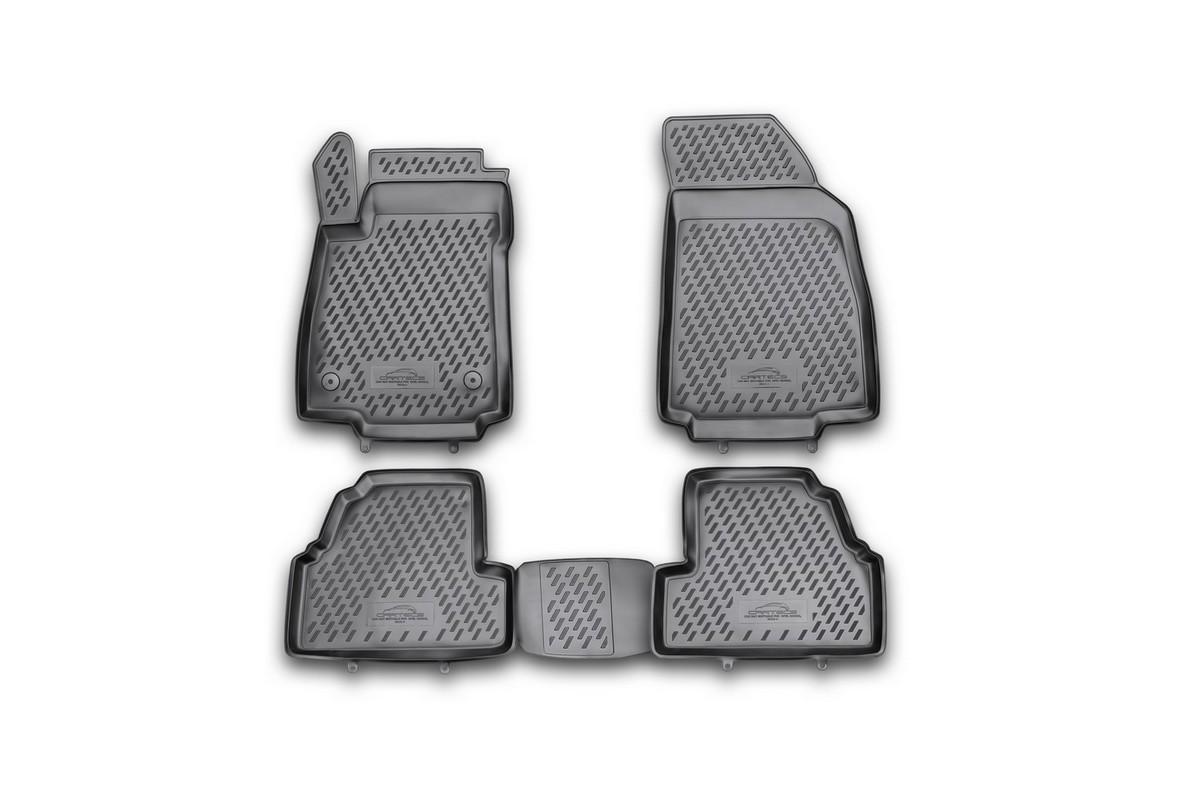 Набор автомобильных ковриков Novline-Autofamily для Opel Mokka 2012-, в салон, 4 шт. CAROPL00029hVT-1520(SR)Набор автомобильных ковриков Novline-Autofamily, изготовленный из полиуретана, состоит из 4 ковриков, которые учитывают все особенности каждой модели автомобиля и полностью повторяют контуры пола. Полиуретановые автомобильные коврики для салона произведены из высококачественного материала, который держит форму, прочный и не пачкает обувь. Коврики в салон не только улучшат внешний вид салона вашего автомобиля, но и надежно уберегут его от пыли, грязи и сырости, а значит, защитят кузов от коррозии. Полиуретановые коврики для автомобиля гладкие, приятные и не пропускают влагу. Ковры для автомобилей надежно крепятся на полу и не скользят, что очень важно во время движения. Чистятся коврики очень просто: как при помощи автомобильного пылесоса, так и различными моющими средствами. Набор подходит для Opel Mokka с 2012 года выпуска.