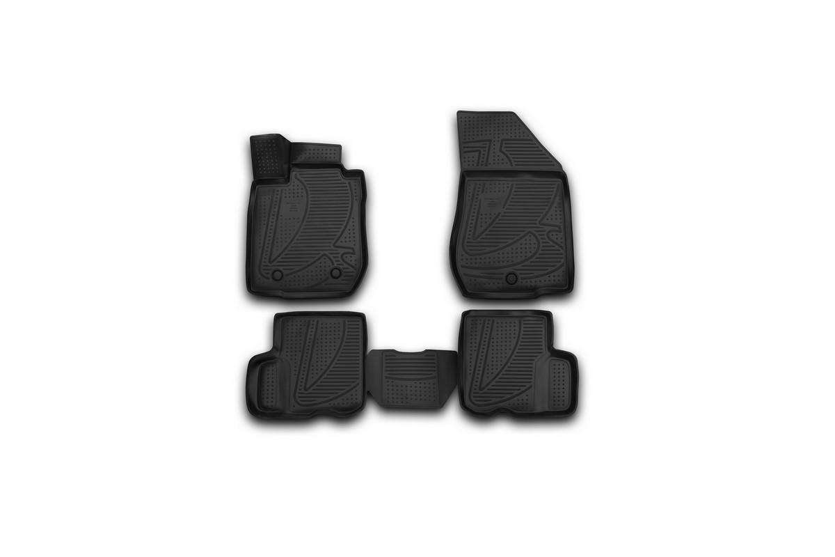 Набор автомобильных 3D-ковриков Novline-Autofamily для Lada Largus, 2012->, в салон, 4 штF620250E1Набор Novline-Autofamily состоит из 4 ковриков, изготовленных из полиуретана. Основная функция ковров - защита салона автомобиля от загрязнения и влаги. Это достигается за счет высоких бортов, перемычки на тоннель заднего ряда сидений, элементов формы и текстуры, свойств материала, а также запатентованной технологией 3D-перемычки в зоне отдыха ноги водителя, что обеспечивает дополнительную защиту, сохраняя салон автомобиля в первозданном виде. Материал, из которого сделаны коврики, обладает антискользящими свойствами. Для фиксации ковров в салоне автомобиля в комплекте с ними используются специальные крепежи. Форма передней части водительского ковра, уходящая под педаль акселератора, исключает нештатное заедание педалей. Набор подходит для Lada Largus с 2012 года выпуска.