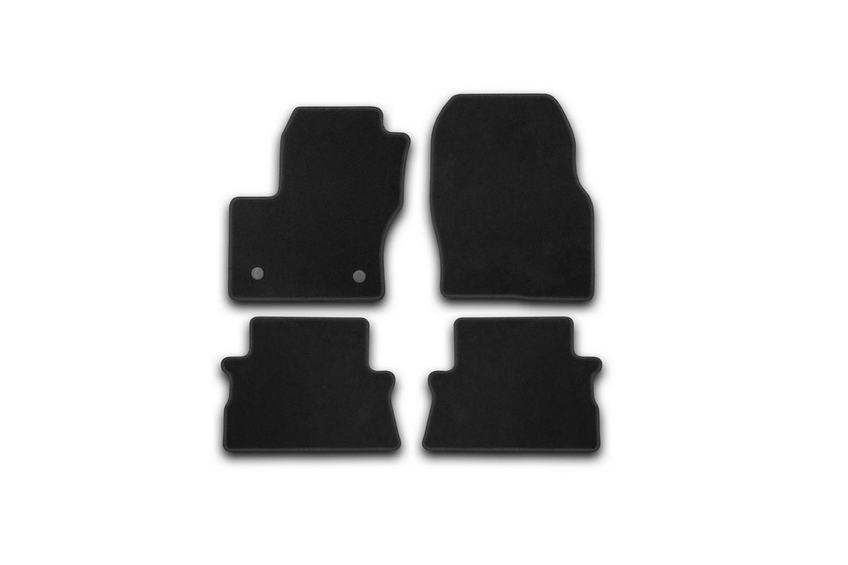 Набор автомобильных ковриков Klever для Ford Kuga 2013-, кроссовер, в салон, 4 шт. KVR01164101200kKVR01164101200kНабор автомобильных ковриков Klever, изготовленный из текстиля, состоит из 4 ковриков, которые учитывают все особенности каждой модели автомобиля и полностью повторяют контуры пола. Текстильные автомобильные коврики для салона произведены из высококачественного материала, который держит форму, прочный и не пачкает обувь. Коврики в салон не только улучшат внешний вид салона вашего автомобиля, но и надежно уберегут его от пыли, грязи и сырости, а значит, защитят кузов от коррозии. Текстильные коврики для автомобиля мягкие и приятные, а их основа из вспененного полиуретана не пропускает влагу. Ковры для автомобилей надежно крепятся на полу и не скользят, что очень важно во время движения. Чистятся коврики очень просто: как при помощи автомобильного пылесоса, так и различными моющими средствами. Набор подходит для Ford Kuga кроссовер с 2013 года выпуска.