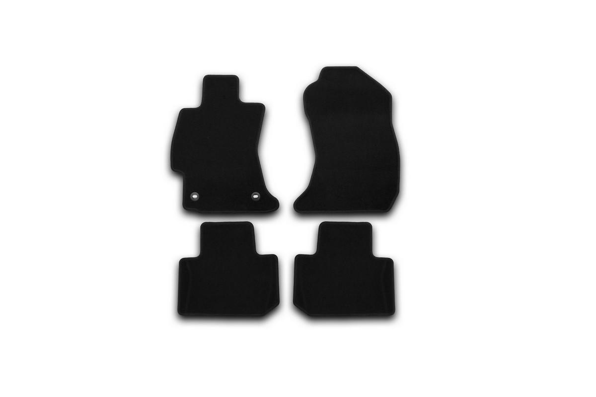 Набор автомобильных ковриков Klever для Subaru Forester 2013-, кроссовер, в салон, 4 шт. KVR01461901200kDFS-524Набор автомобильных ковриков Klever, изготовленный из текстиля, состоит из 4 ковриков, которые учитывают все особенности каждой модели автомобиля и полностью повторяют контуры пола. Текстильные автомобильные коврики для салона произведены из высококачественного материала, который держит форму, прочный и не пачкает обувь. Коврики в салон не только улучшат внешний вид салона вашего автомобиля, но и надежно уберегут его от пыли, грязи и сырости, а значит, защитят кузов от коррозии. Текстильные коврики для автомобиля мягкие и приятные, а их основа из вспененного полиуретана не пропускает влагу. Ковры для автомобилей надежно крепятся на полу и не скользят, что очень важно во время движения. Чистятся коврики очень просто: как при помощи автомобильного пылесоса, так и различными моющими средствами. Набор подходит для Subaru Forester кроссовер с 2013 года выпуска.