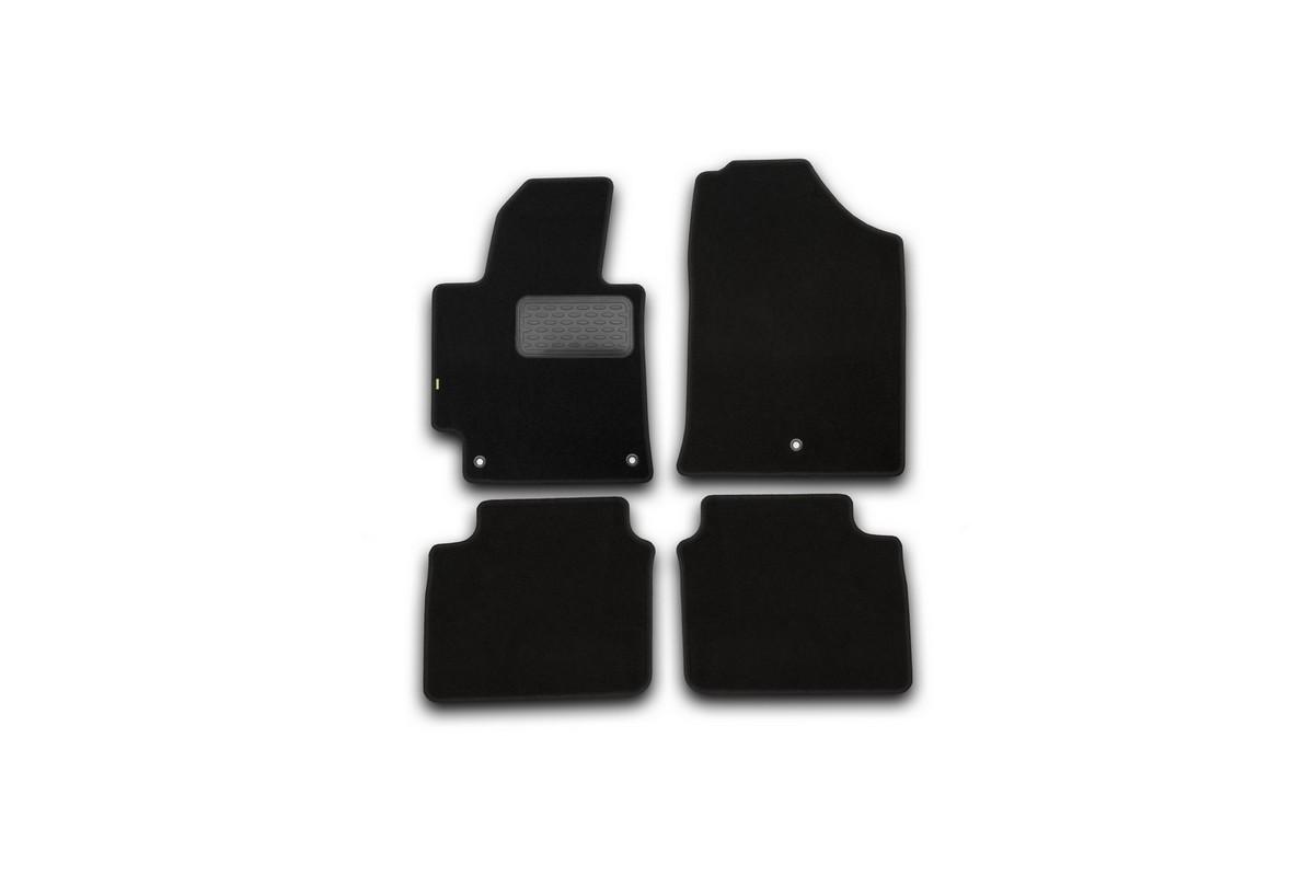 Набор автомобильных ковриков Klever для Hyundai Elantra 2014-, седан, в салон, 4 шт. KVR02205601210kh фаркоп hyundai elantra рестайлинг 2014 без электрики шт тип шара а с вырезом бампера 4259 а