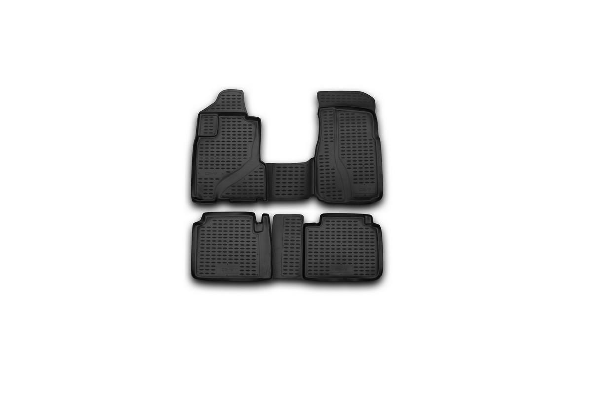 Набор автомобильных ковриков Novline-Autofamily для Honda CR-V 2002-2006, в салон, цвет: черный, 4 штNLC.18.03.210Набор автомобильных ковриков Novline-Autofamily, изготовленный из полиуретана, состоит из 4 ковриков, которые учитывают все особенности каждой модели автомобиля и полностью повторяют контуры пола. Полиуретановые автомобильные коврики для салона произведены из высококачественного материала, который держит форму, прочный и не пачкает обувь. Коврики в салон не только улучшат внешний вид салона вашего автомобиля, но и надежно уберегут его от пыли, грязи и сырости, а значит, защитят кузов от коррозии. Полиуретановые коврики для автомобиля гладкие, приятные и не пропускают влагу. Ковры для автомобилей надежно крепятся на полу и не скользят, что очень важно во время движения. Чистятся коврики очень просто: как при помощи автомобильного пылесоса, так и различными моющими средствами. Набор подходит для Honda CR-V 2002-2006 годов выпуска.