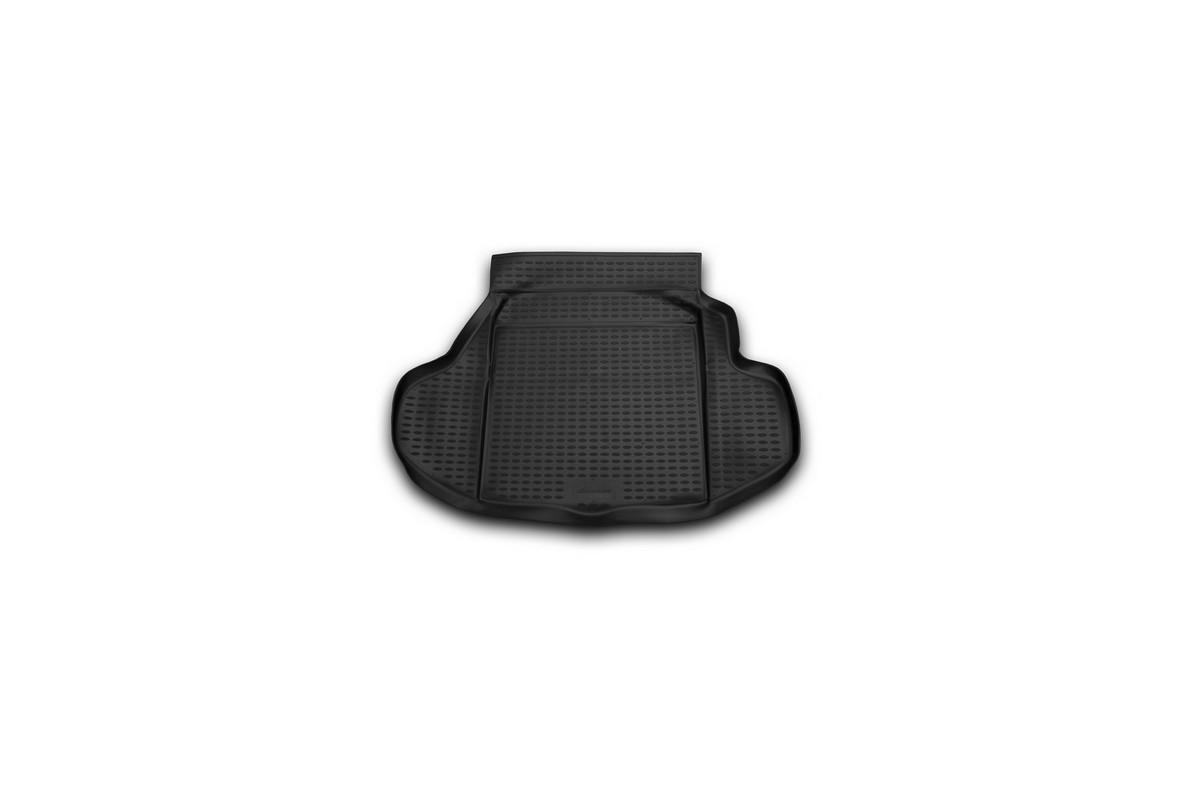 Коврик автомобильный Novline-Autofamily для Honda Legend седан 2004-, в багажник. NLC.18.10.B10CA-3505Автомобильный коврик Novline-Autofamily, изготовленный из полиуретана, позволит вам без особых усилий содержать в чистоте багажный отсек вашего авто и при этом перевозить в нем абсолютно любые грузы. Этот модельный коврик идеально подойдет по размерам багажнику вашего автомобиля. Такой автомобильный коврик гарантированно защитит багажник от грязи, мусора и пыли, которые постоянно скапливаются в этом отсеке. А кроме того, поддон не пропускает влагу. Все это надолго убережет важную часть кузова от износа. Коврик в багажнике сильно упростит для вас уборку. Согласитесь, гораздо проще достать и почистить один коврик, нежели весь багажный отсек. Тем более, что поддон достаточно просто вынимается и вставляется обратно. Мыть коврик для багажника из полиуретана можно любыми чистящими средствами или просто водой. При этом много времени у вас уборка не отнимет, ведь полиуретан устойчив к загрязнениям.Если вам приходится перевозить в багажнике тяжелые грузы, за сохранность коврика можете не беспокоиться. Он сделан из прочного материала, который не деформируется при механических нагрузках и устойчив даже к экстремальным температурам. А кроме того, коврик для багажника надежно фиксируется и не сдвигается во время поездки, что является дополнительной гарантией сохранности вашего багажа.Коврик имеет форму и размеры, соответствующие модели данного автомобиля.