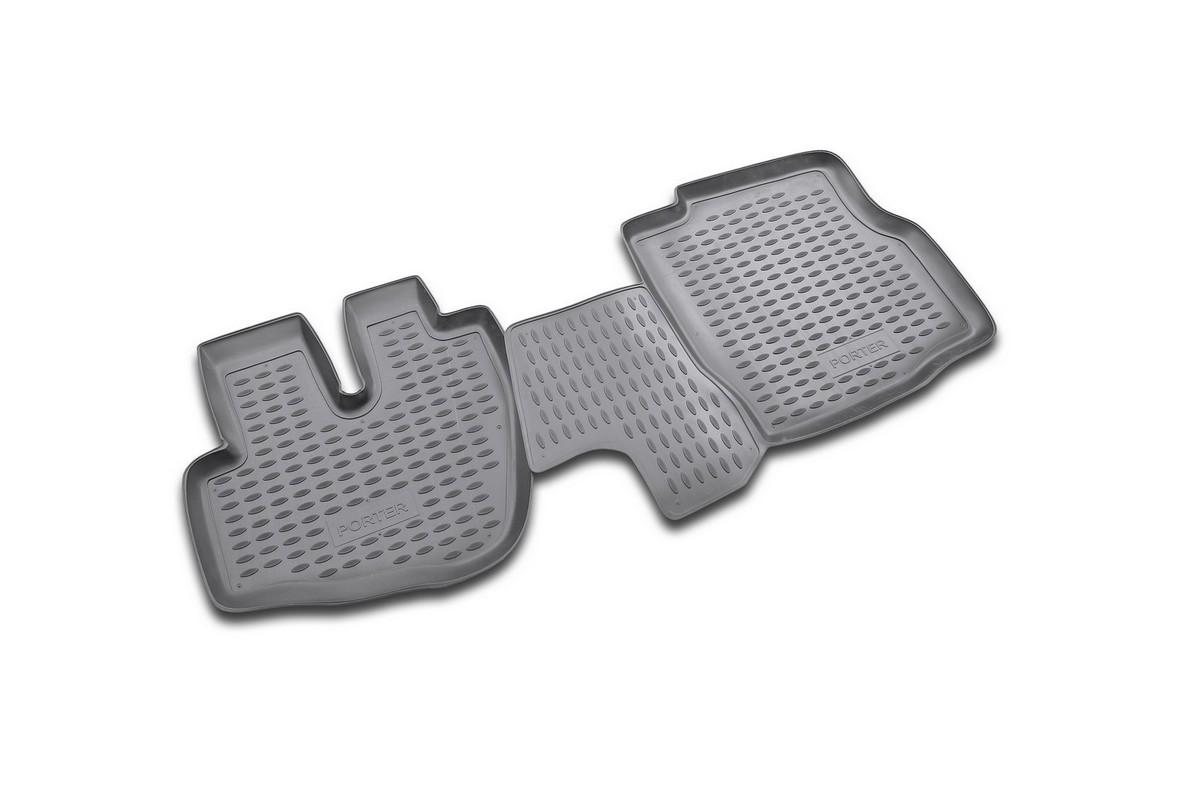 Коврики в салон автомобиля Novline-Autofamily для Hyundai Porter, 1996 -, 2 штNLC.20.03.210Коврики Novline-Autofamily улучшат внешний вид салона автомобиля и надежно уберегут его от пыли, грязи и сырости, а значит, защитят кузов от коррозии. Полиуретановые коврики гладкие, приятные и не пропускает влагу. Полиуретановые автомобильные коврики произведены из высококачественного материала, который держит форму и не пачкает обувь. Коврики надежно крепятся на полу и не скользят, что очень важно во время движения, особенно для водителя. Изделия из полиуретана надежно удерживают грязь и влагу, при этом всегда выглядят довольно опрятно. И чистятся они очень просто: как при помощи автомобильного пылесоса, так и различными моющими средствами.