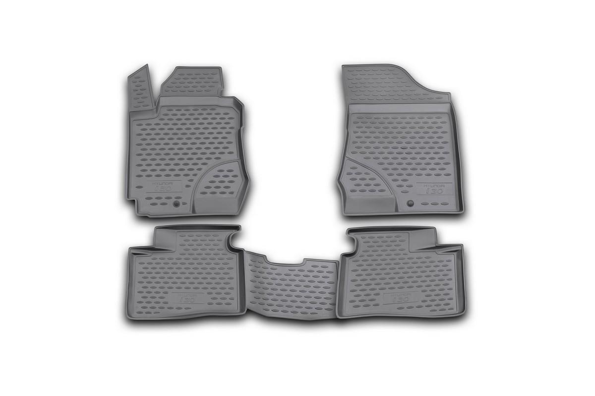 Набор автомобильных ковриков Novline-Autofamily для Hyundai i30 2007-, в салон, 4 шт. NLC.20.28.210hNLC.20.28.210hНабор автомобильных ковриков Novline-Autofamily, изготовленный из полиуретана, состоит из 4 ковриков, которые учитывают все особенности каждой модели автомобиля и полностью повторяют контуры пола. Полиуретановые автомобильные коврики для салона произведены из высококачественного материала, который держит форму, прочный и не пачкает обувь. Коврики в салон не только улучшат внешний вид салона вашего автомобиля, но и надежно уберегут его от пыли, грязи и сырости, а значит, защитят кузов от коррозии. Полиуретановые коврики для автомобиля гладкие, приятные и не пропускают влагу. Ковры для автомобилей надежно крепятся на полу и не скользят, что очень важно во время движения. Чистятся коврики очень просто: как при помощи автомобильного пылесоса, так и различными моющими средствами. Набор подходит для Hyundai i30 с 2007 года выпуска.