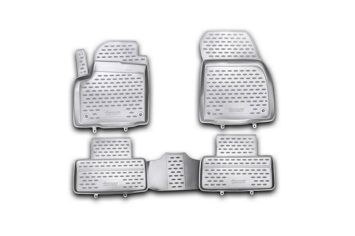 Коврики в салон автомобиля Novline-Autofamily для Land Rover Range Rover Evoque, 2011 -, 4 штVT-1520(SR)Коврики Novline-Autofamily улучшат внешний вид салона автомобиля и надежно уберегут его от пыли, грязи и сырости, а значит, защитят кузов от коррозии. Полиуретановые коврики гладкие, приятные и не пропускает влагу. Полиуретановые автомобильные коврики произведены из высококачественного материала, который держит форму и не пачкает обувь. Коврики надежно крепятся на полу и не скользят, что очень важно во время движения, особенно для водителя. Изделия из полиуретана надежно удерживают грязь и влагу, при этом всегда выглядят довольно опрятно. И чистятся они очень просто: как при помощи автомобильного пылесоса, так и различными моющими средствами.